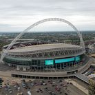 An aerial view of Wembley Stadium in 2017. Picture: Steve Parsons/PA