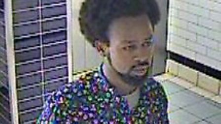 Police wish to speak to this man in connection with an assault on staff at Wembley Central station.