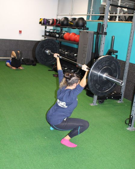 Personal trainer Pennie Varvarides at Pure Gym Finsbury Park