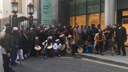 Bridge Park community after winning Brent Council's injunction against them in 2019. Picture: Nathal
