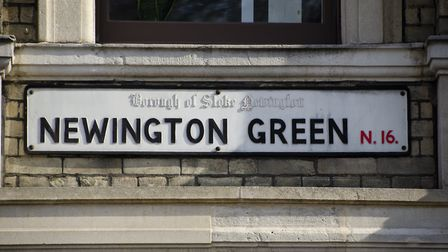 A sign at the junction of Newington Green and Albion Road. Picture: Amir Dotan