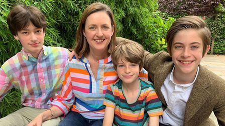 Charlotte McMillan with her sons. Picture: Children of Lockdown