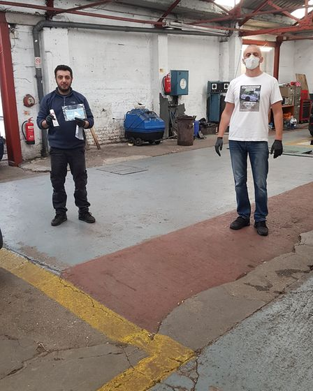 Branko Kiprovski wants to give back by giving out coronavirus supplies, in this example, to a garage