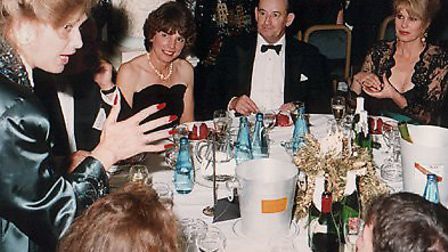 Fay Presto performing for Joanna Lumley and guests at a dinner. Picture: Fay Presto