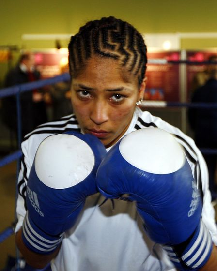 Olympic boxing hopefull Hannah Beharry British number one in the 48kg wieght from Acton London durin