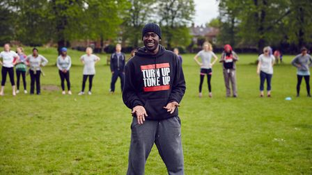 Josh, an exercise instructor leading sessions in Brent parks. Picture: Our Parks
