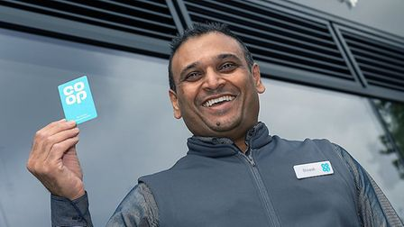 Co-op manager Dinesh Patel at the new food store in Junction Road. Picture: Joel Chant