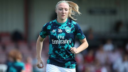 Louise Quinn during her time with Arsenal Women (pic Gavin Ellis/TGS Photo)