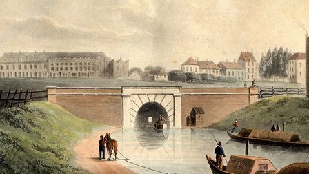 Regent's Canal, by Shepherd, 1822. Picture: Islington Local History Centre