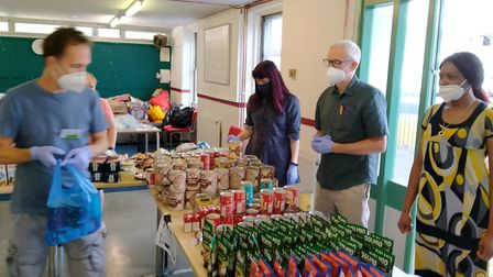 Jeremy Corbyn spent Wednesday volunteering at Light Project International's foodbank for the residen