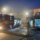 Firefighters dealt with a blaze at a recyling plant in Neasden. Picture: David Nathan