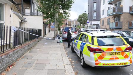Man found stabbed in St Mary's Road, Harlesden. Picture: David Nathan