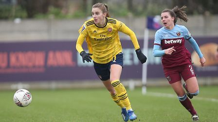 Vivianne Miedema of Arsenal during West Ham United Women vs Arsenal Women, Women's FA Cup Football a