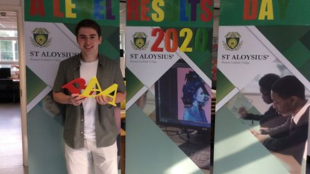 Oliver from St Aloysius' College who achieved AAB and is going on to study television and broadcasti