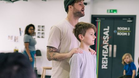 Jay McGuiness, who plays Sam, and Jack Reynolds, who plays Jonah, in Sleepless. Picture: Ryan Howard
