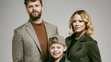 Jay McGuiness, Kimberley Walsh and Theo Collis star in SLEEPLESS at the Troubadour Wembley Park. Pic