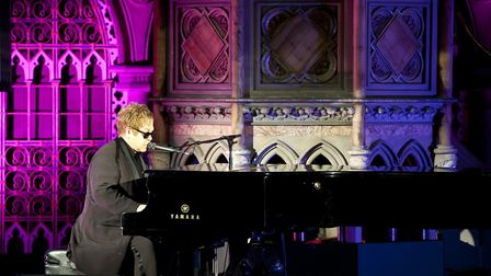 Elton John performs a special concert for Absolute Radio, at the Union Chapel in Islington, North Lo
