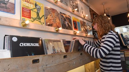 Charlie Salvidge of the Lion Coffee shop on Record Store Day in 2016.
