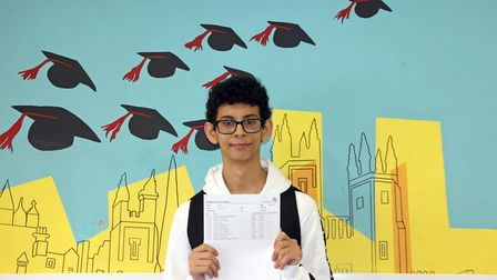 Hamza Arybou got nine 9s, an 8, and A in additional maths for his GCSEs. Picture: Ark Academy Wemble