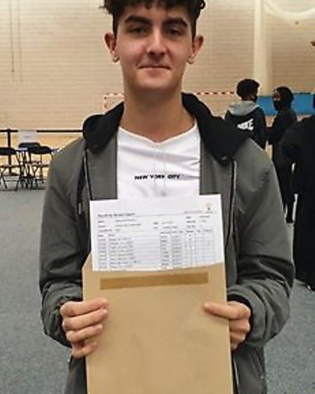 Alessio Cocciolo earned seven 9s and two 8s at GCSE. Picture: Elvin Academy
