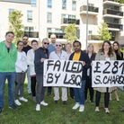 Neighbours on living in Chase House and Franklin House protesting at neglect by landlord L&Q in 2019