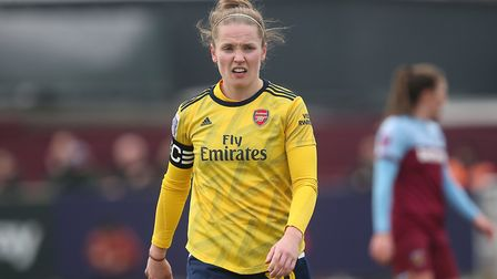 Kim Little of Arsenal during West Ham United Women vs Arsenal Women, Women's FA Cup Football at Rush