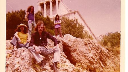 Band photo in Athens. Left to right: Paul Chritodoulou, Jeff Ball, Tom Kelly and Francisco. Picture: