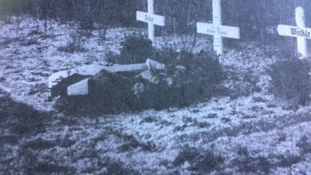 Grave of Peter Winkle in the Schiefbahn graveyard. Picture: Submitted by Christoph Heyes