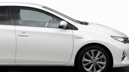 Officers are looking to trace a white Toyota Auris like this image, cloned registration BW15 ZPD. Pi