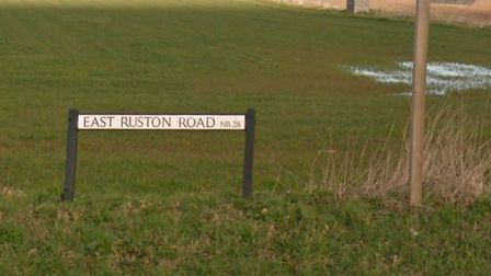 The crash took place on East Ruston Road. Picture: Google Maps
