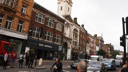 Upper Street around The Angel. Picture:Ken Mears