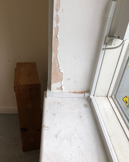 Damage caused by the leak in a block of flats in Hornsey Lane. Picture: Sandra King