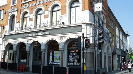 The Hope theatre above the Hope & Anchor pub on Upper Street Islington has been awarded a grant to f