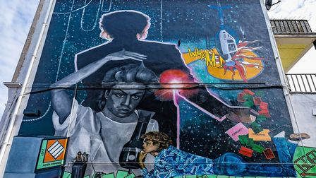George Michael mural by Dawn Mellor. Picture: Brent 2020