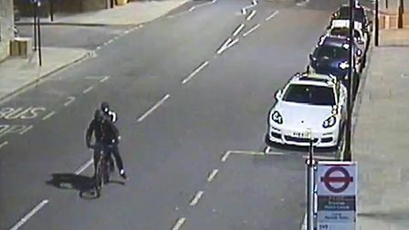 Detectives are seeking the public's help in tracing two youths captured on CCTV fleeing the scene on