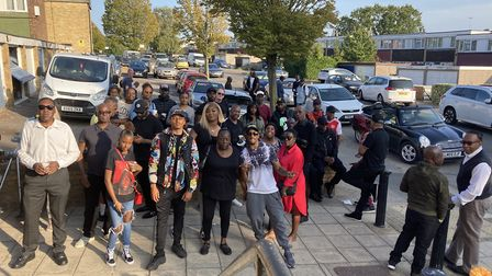 Friends and family gather to pay their respects to Anthony Higgins, stabbed to death in Wembley. Pic