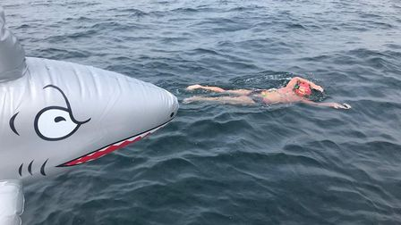 Park Royal nurse Donna Nicholas swims the English Channel. Picture: LNWUH