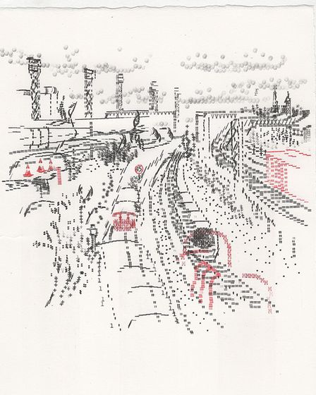 Willesden Junction Station as seen by artist Keira Rathbone. Picture: Keira Rathbone