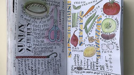 One of the journal pages by Christine Nicholls. Picture: Ink Pot and Pen