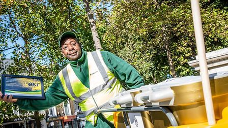 Andrew Blenham is Islington's Sweeper of the Year winner for 2020. Picture: Em Fitzgerald Photograph
