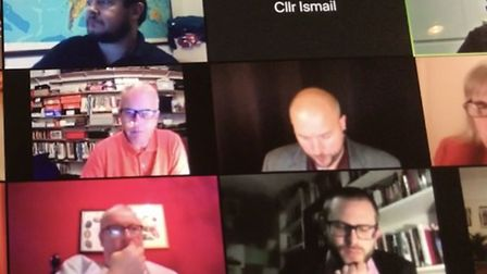 Rakhia Ismail's video was turned off during the Zoom meeting. Picture: Zoom