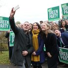Green Party Co-Leader Jonathan Bartley, Deputy leader Amelia Womack and Co-Leader Sian Berry