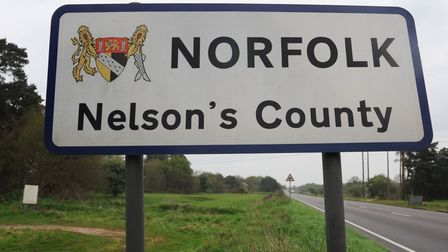 A road sign for Norfolk