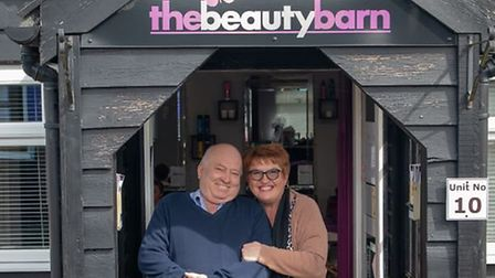 Staff from the Beauty Barn were on hand to wax Mr Forward Picture: CWH MEDIA