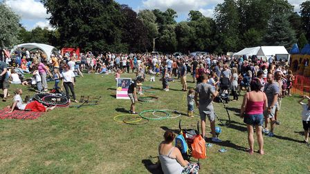 A Party in the Park at Belle Vue Park in Sudbury Picture: PHIL MORLEY