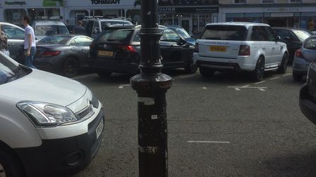 The heritage lamp posts in Sudbury are in need of a lick of paint Picture: SUDBURY TOWN COUNCIL