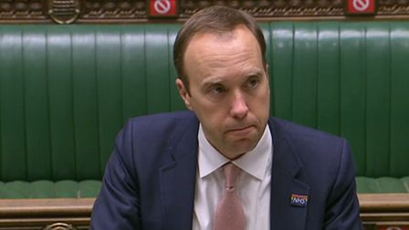 Health Secretary Matt Hancock delivers a ministerial statement on COVID-19 in the House Of Commons,