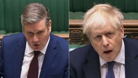 Sir Keir Starmer (L) and prime minister Boris Johnson during Prime Minister's Questions