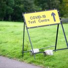 Sign of a Covid-19 testing centre