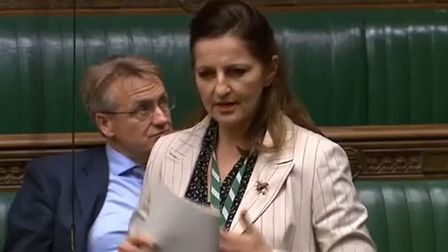 Eastbourne MP Caroline Ansell speaking in the House of Commons